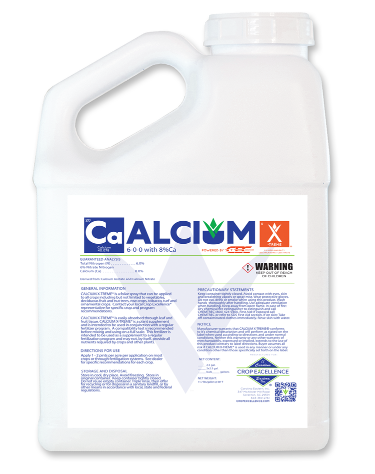 Calcium X-TREME® | High Availability - Low Use - Low Rate - Calcium Derived from Calcium Acetate and Calcium Nitrate powered by CEC Propulsion and Delivery System Image