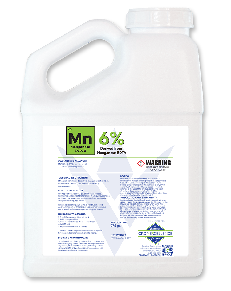 Mn 6% | Derived from Manganese EDTA Image