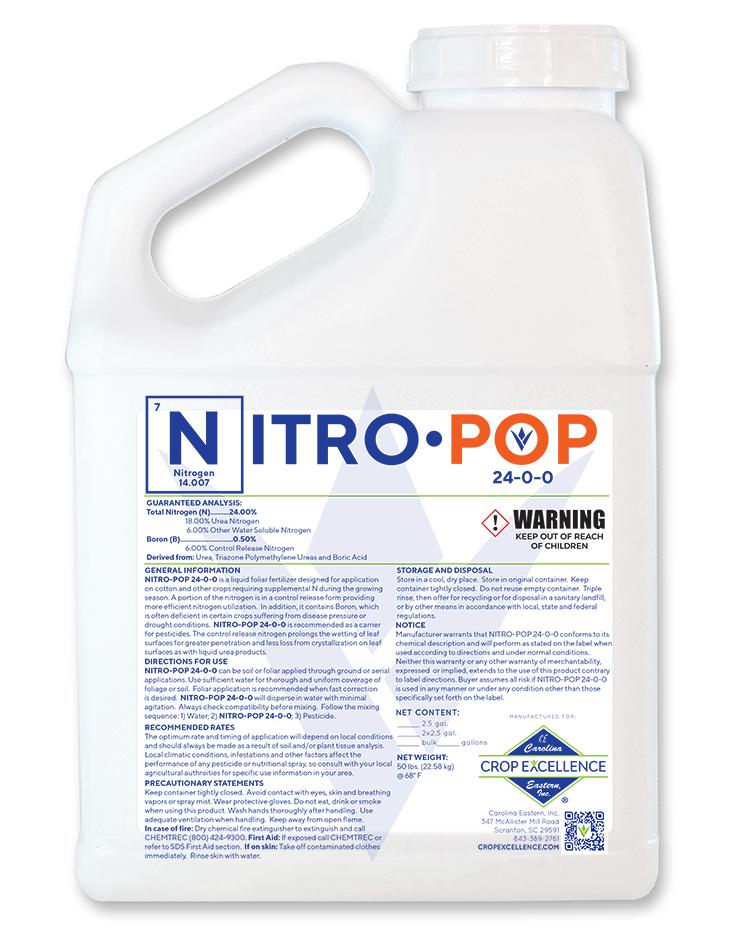 Nitro Pop | Derived from Urea, Triazone Polymethylene Ureas and Boric Acid Image