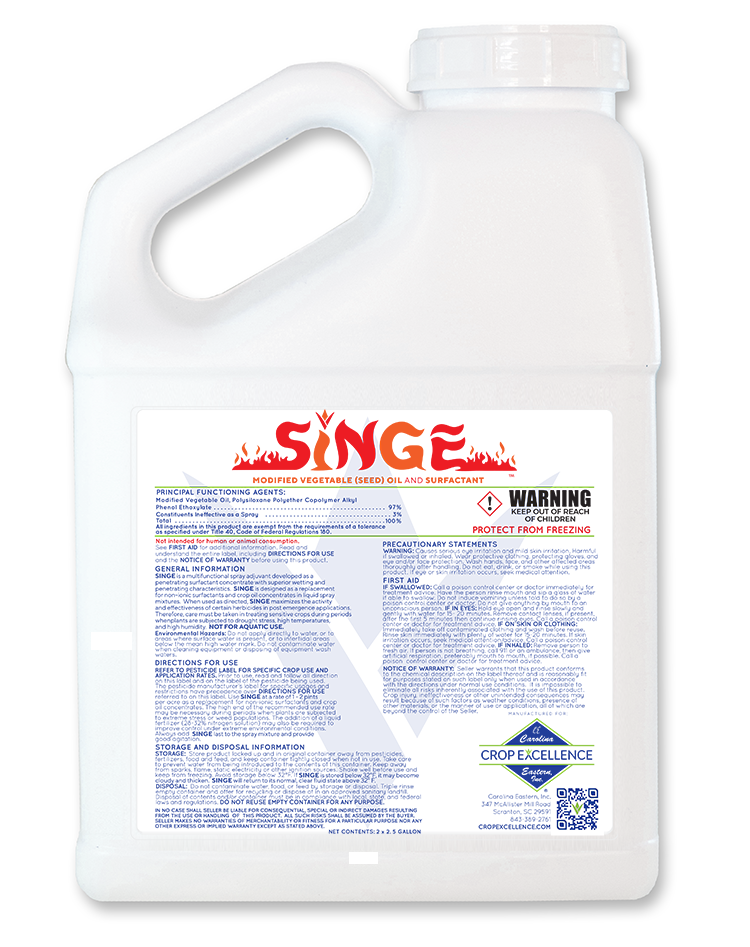SINGE™ | Modified Vegetable (Seed) Oil & Surfactant Image
